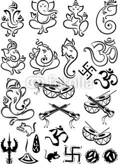 Image result for simple ganesh line drawings