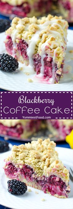 Blackberry Coffee Cake - this recipe is perfect excuse to eat cake for breakfast or afternoon coffee break! It is easy to make and taste amazing. Blackberry Coffee Cake - light, fluffy and very delicious!