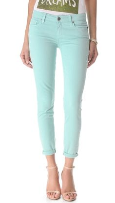 minty blue jeans / paige... extra 25% off all sale at shopbop!