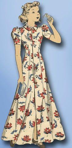 1930s Vintage Toddler's House Coat 1938 Du Barry Sewing Pattern 2027 Sz 4 #DuBarry