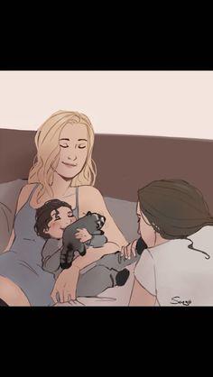 but what if clexa baby in a raccoon onesie Cute Lesbian Couples, Lesbian Art, Lesbian Love, Lexa The 100, The 100 Clexa, Supergirl Comic, Clarke And Lexa, The 100 Show, Cute Couple Art