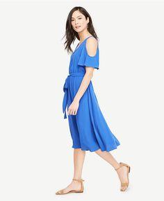 Thumbnail Image of Color Swatch 6831 Image of Cold Shoulder Belted Dress