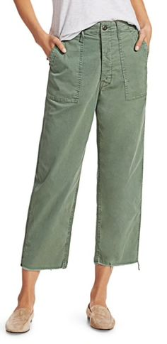 A couple of weeks ago I was waxing poetic about my beloved army jackets, and today is all about the wonders of a good. Army Pants, Military Pants, Khaki Pants, Army Jackets, Gold Boots, Herringbone Fabric, Waxing Poetic, Green Tee, Fancy Shoes