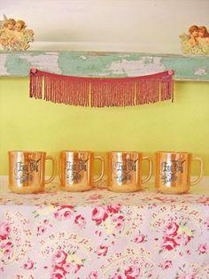 Lustreware eggnog cups. From Megan Jeffery's blog, Beetlegrass.