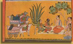 Rama and Lakshmana conversing with Vishwamitra, Shangri-Kulu, ca.1710
