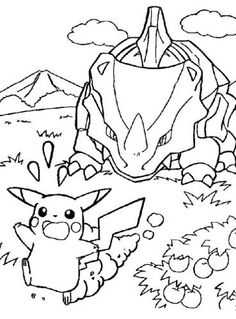 Printable Pokemon coloring page - Run Pikachu! Pokemon pictures to color and print. Online Coloring Pages, Cool Coloring Pages, Cartoon Coloring Pages, Free Printable Coloring Pages, Adult Coloring Pages, Coloring Pages For Kids, Coloring Books, Pikachu Pikachu, Pokemon Go