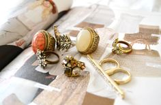 gold jewellery, fashion, cocktail rings, style, accessori