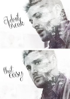 ''I don't break that easy.'' / Dean Winchester Winchester Brothers, Dean Winchester, Supernatural Fan Art, Supernatural Episodes, Demon Dean, Bobby Singer, Two Brothers, Keep Fighting, Good Smile
