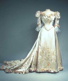 The Tsarina Alexandra of Russia (late 19th century) evening dress