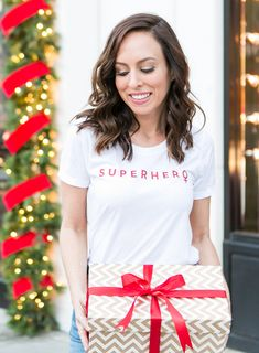 0169c24a1b4 Sydne Style wears milly superhero tee to give back to charity for holiday  season  shopping