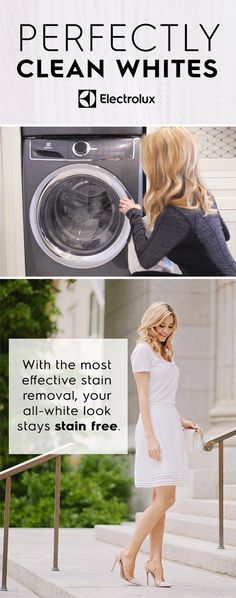 Keep that all-white look perfectly clean and stain-free! Experience the most effective stain removal on the new Electrolux Washer with SmartBoost technology.