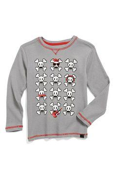 Paul Frank 'Skull' Long Sleeve Thermal Shirt (Little Boys) available at #Nordstrom