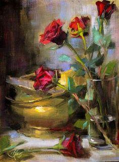 "Daily Paintworks - ""A Romantic at Heart"" - Original Fine Art for Sale - © Pamela Blaies"