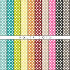 Polka dots collection - set di carta per scrapbooking