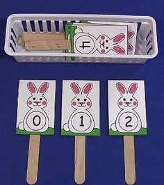 This week's free printable is Bunny Number Sequence Sticks ... which is a great activity for number recognition and review. Available until Sunday March 24th ... after that they will be available in the member's section of the site.