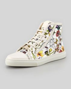 California Flora Canvas High-Top Sneaker by Gucci at Neiman Marcus.