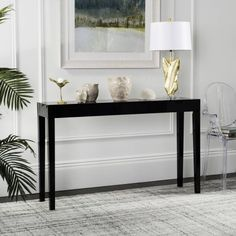 Safavieh Kayson 51 inch Width Mid Century Scandinavian Lacquer Console Table, Multiple Colors