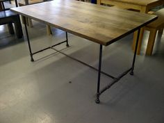 """Kitchen table option We can get this on a custom size only 30"""" wide. Thinking of getting this with a bench and then 2 chairs on the end"""