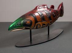 "Salmon - bronze L/E 18 - 9.5""x22""x5.25"" - Preston Singletary (Tlingit)"