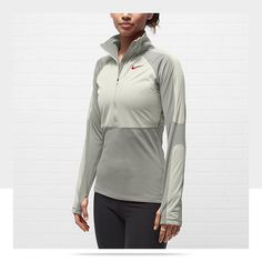The long-sleeve Nike Pro Hyperwarm Shield Half-Zip Women's Training Shirt  $70