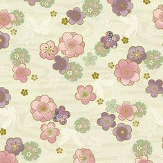 Tissu Patchwork Cartonnage 100 /% coton américain imprimé floral Coupon 45x55 cm