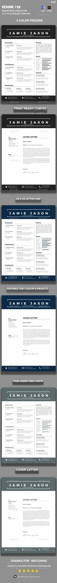 Marketing Executive Resume, Modern Resume Template, CV Template