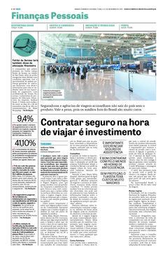 Título: Contratar seguro na hora de viajar é investimento. Veículo: jornal DCI. Data: 1 a 3 de novembro de 2014. Cliente: April Coris.
