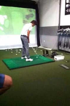 let's take a moment to note that harry wore a golfing outfit for virtual golf