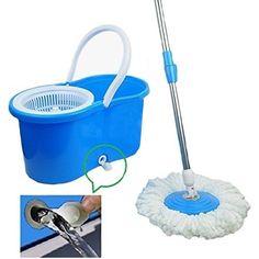 New Practical 360 Degree Rotating Spin Mop Bucket Microfiber Heads Spinning #Aihogard