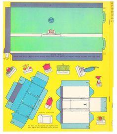 "Vintage 1938 ""Kitchen Play With Cutout Dolls Real Kitchen TO Build"" Saalfield | eBay"