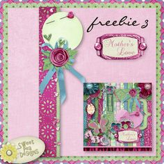 Full size digital scrapbook page border to dress up your layouts!