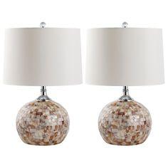 """Nikki Capiz Shell Table Lamp Set of 2 @Zinc_Door 14""""w x 14""""D x 21.5""""H"""
