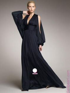 Black Long Sleeve designer Plus Size Prom Dresses
