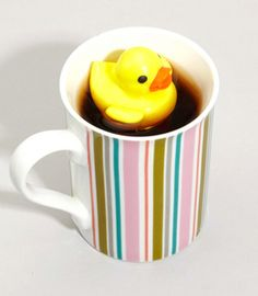 It's a tea infuser! The part that actually holds the tea is attached to the bottom of the duck. So cute. $12