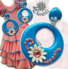 Pendientes fimo de flamenca | Estos son los pendientes que l… | Flickr