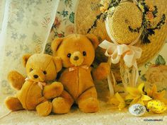 Teddy Bears getting ready for Easter