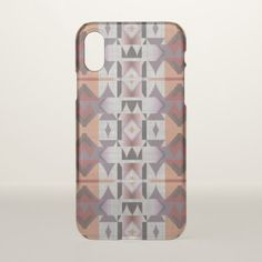 Purple Violet Red Orange Tribal Mosaic Pattern iPhone X Case - pattern sample design template diy cyo customize