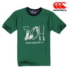 Canterbury Men Casual Cotton Round Neck Short Sleeve T-Shirt Dark Green - Shipping Cap Promotion- - TopBuy.com.au