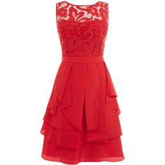 Coast Daymee Dress ($195) ❤ liked on Polyvore featuring dresses, vestidos, short dresses, red, red dress, sexy short cocktail dresses, short red cocktail dress and short red dress