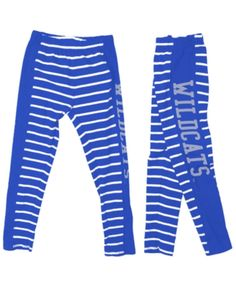 eb2ef33790d69 Authentic Ncaa Apparel Kentucky Wildcats Striped Leggings, Toddler Girls  (2T-4T) - Blue 2T