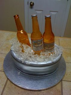 Beer on ice cake using isomalt Cupcake Recipes, Cupcake Cakes, Family Cake, Food Decorating, Isomalt, Ice Cake, Edible Creations, Sugar Cake, Theme Cakes