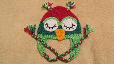 Christmas Owl Hat Baby Owl Hat Crochet Owl by TheFlyButterFactory, $14.95