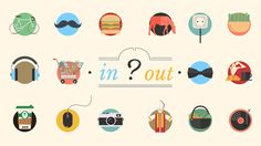 ARE YOU IN // OR // OUT ? Motion Video, Stop Motion, Hipsters, After Effects, Motion Design, Illustrations, Graphic Illustration, Motion Graphs, Web Design