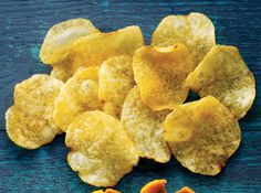 Kettle-cooked potato chips:  100 calories = 11 chips.  This has 6 g fat and 80 mg sodium.