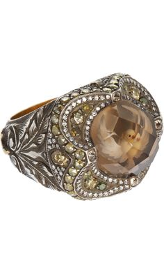 Sevan Bicakci Dove Carved Smoky Topaz Ring