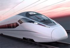 Very High Speed Trains  Smooth clean white Bombardier fast