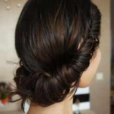 """Cute low roll updo! Share your favourite style on our separate board """"Hair Style"""". Comment this pin with """"Fluffy Updo"""" and don´t forget to follow us. :) #hair #style #updo"""