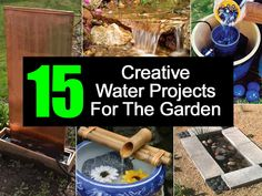 15 Creative Water Projects For The Garden - http://www.diyprojectsworld.com/creative-water-projects-for-the-garden.html