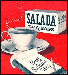 SALADA TEA advertisement in WOMAN'S DAY  04/01/1956  p. 125    http://graphic-design.tjs-labs.com/show-picture?id=1102526612