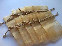 Bags sheer toffee organza 3 1/2 x 5 1/2 by WithAGrandmasLove